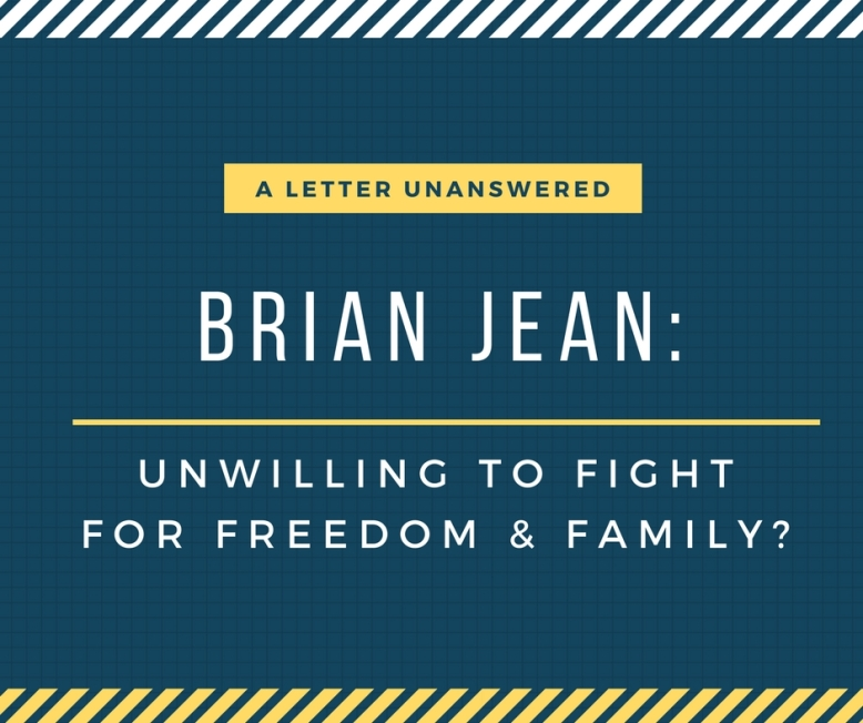 A letter unanswered Brian Jean